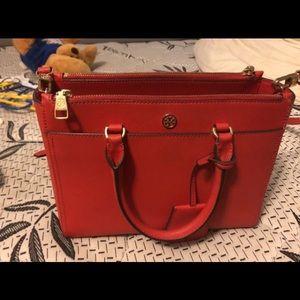 Red tory burch purse